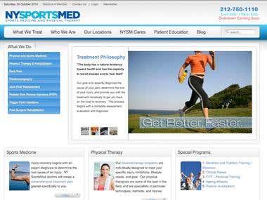 NY SportsMed Website Design
