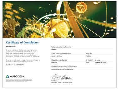 autocad certificado