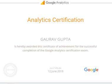 Google Analytics Certified 2019