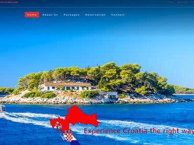 Tourism in Croatia - Web design
