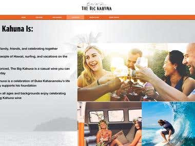 """The Big Kahun"" a – A casual wine ecommerce shop website des"