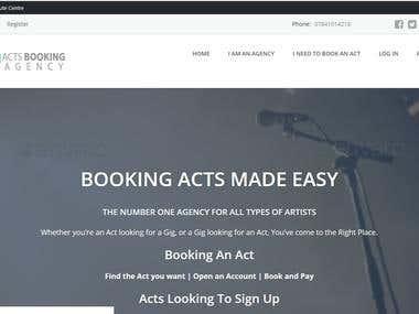 actsbookingagency.com