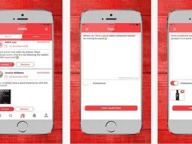 Social Media iOS/Android Application