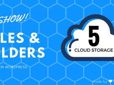 Show Files & Folder from Clouds WordPress Plugin