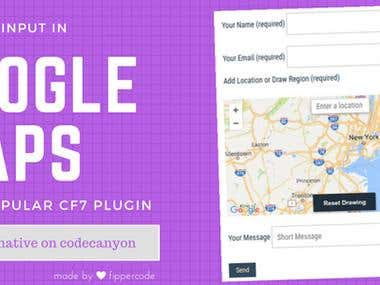 Google Maps Extension for CF7 WordPress Plugin