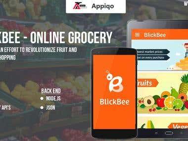 Blick Bee- Online Grocery App