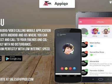 VNV4U - Audio/Video Calling Application