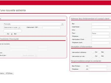 """Index page of """"Astreinte"""" project for SOPRA STERIA Customer"""