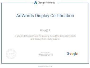 Adwords Display Certification
