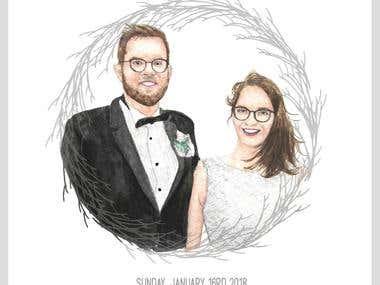 Wedding Portrait Invitation