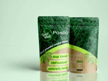 Packaging Pondu leaves