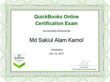 QuickBooks Online ProAdvisor Certificate