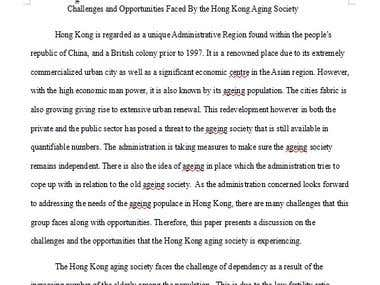 Academic Essay Challenges and Opportunities Faced By the HK