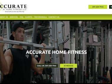 """Accuratehomefitness – ""Custom Gym & – Fitness Website"