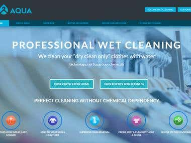 """Aqua – Wet Clean Service Custom Design Ecommerce website de"