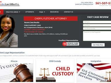 """Lawyer Fletcher – A law firm"" Professional Attorney website"