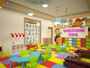 Kids play school