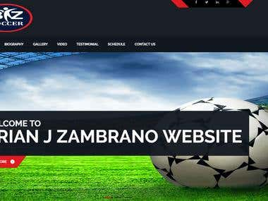 """Brian-zambrano – Personal Custom "" Sports Website"