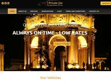 Iprivatecar – Custom Build Limo and Car Service Website