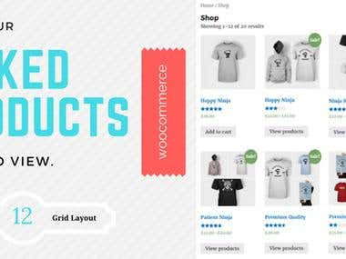 Woocommerce Linked Products Grid