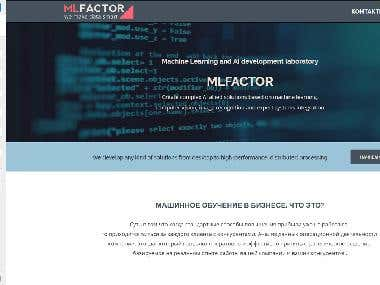 "Responsive Landing Page ""MLFactor"" on WordPress"