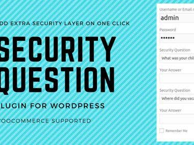 Security Questions WordPress Plugin