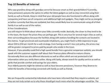 Top 10 Benefits of Internet