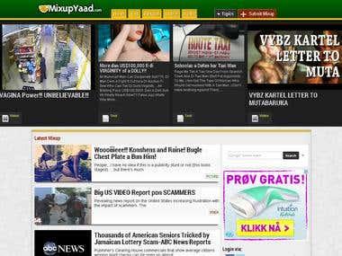 Responsive web design for mixupyaad
