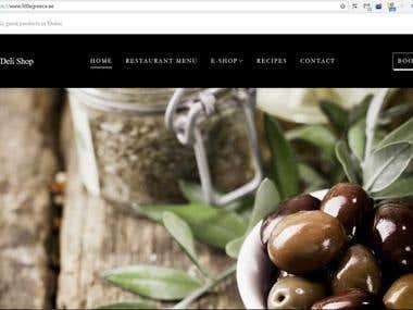 Wordpress website with e-shop (Woocommerce)