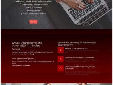 Perfect CV website