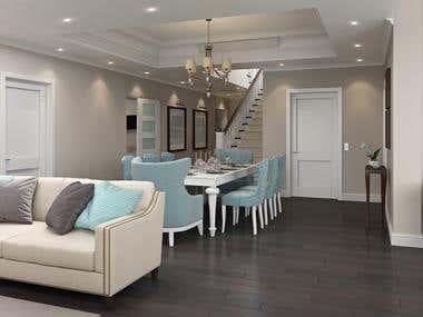 Interior 3D realistic visualization