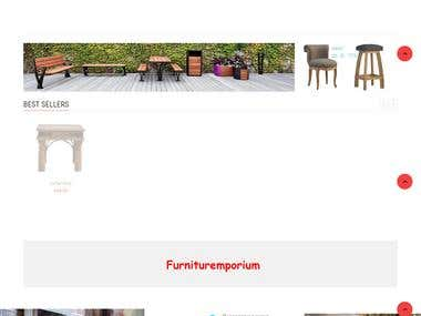 Web Development of E-commerce furniture store