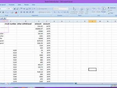 Data entry into google sheet or excel