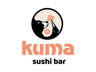 Logotype for Kuma Sushi Bar