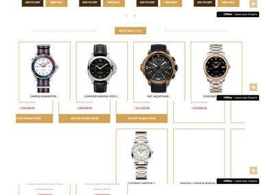 e -Commerce(Watch Related) website