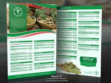 Herbal flyer design for client