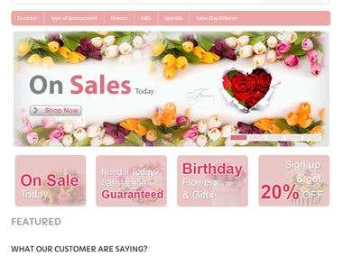 Custom Open Cart theme development as specified by client