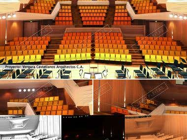 Concert Hall design and visuals