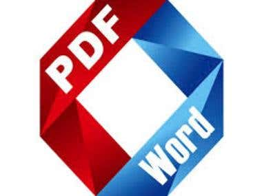 I Will Edit Pdf And Convert To Word, Or Word To Pdf