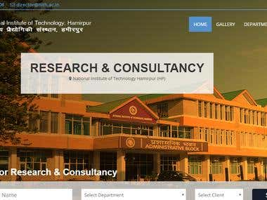Research & Consultancy NIT Hamirpur (H.P)