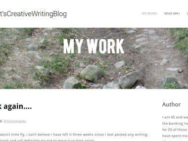 Writers Blog Site