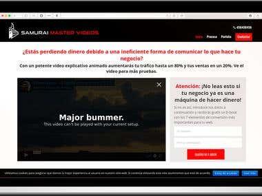 Web-landing Samurai Master Videos