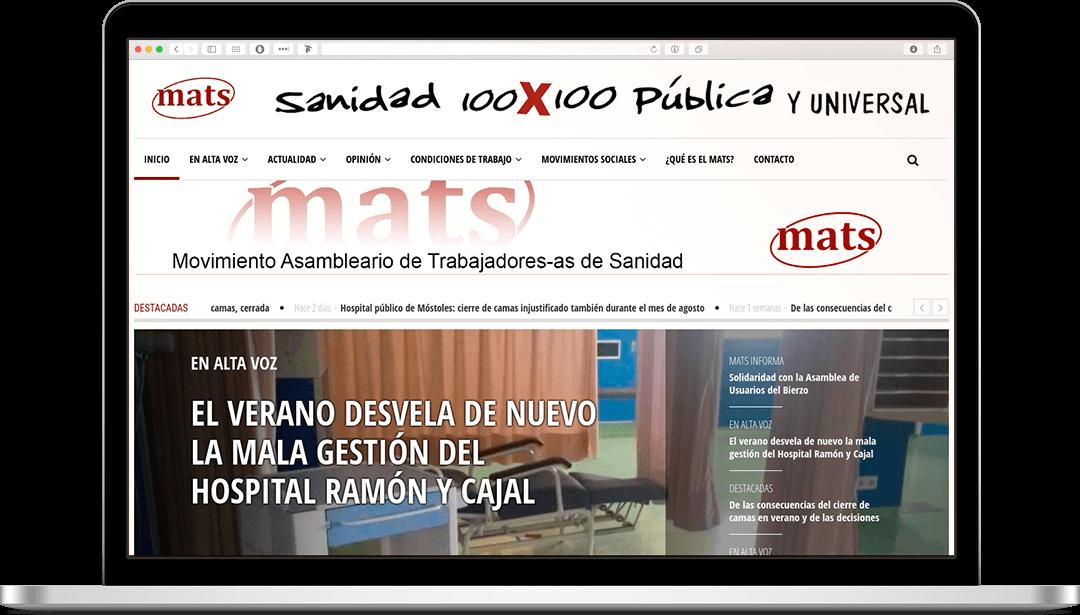 Web newsletter mats sanidad
