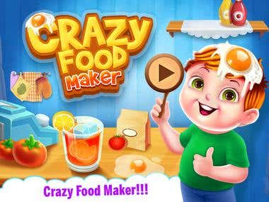 Crazy food maker game