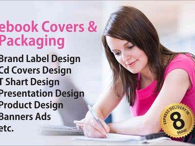 e Book covers & package design