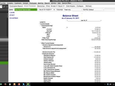 Quickbooks Financial statements
