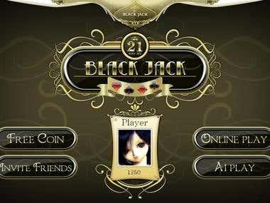 Unity3D Online Game - BlackJack 21