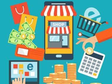 Marketing infographic and analytics