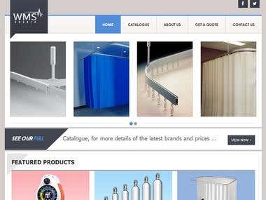 Full website design (medical Products supplier)