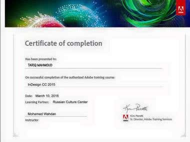 InDesign Photoshop Certificate